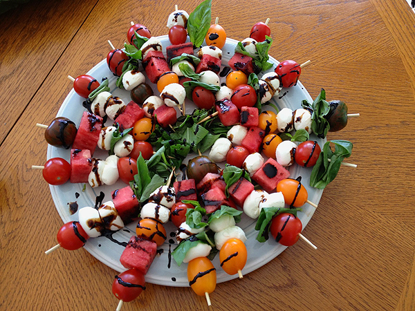 Salad Skewer Recipe from Personal Trainer in Mississauga